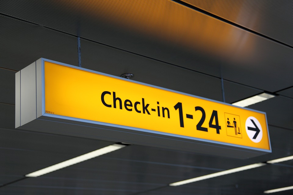Check in at airport